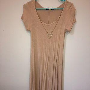 Dresses & Skirts - Tan tee shirt dress